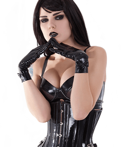 PVC Clad fetish girl